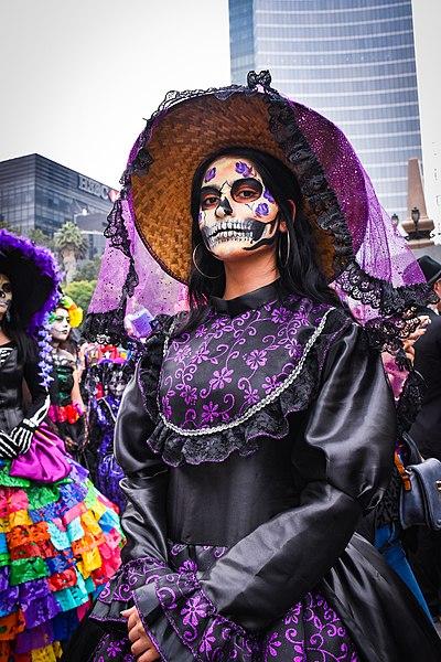 Desfile de la mega procesión de las catrinas