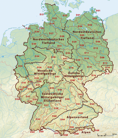 Nordfranzösisches Becken fyzickogeografické členenie nemecka wikipédia
