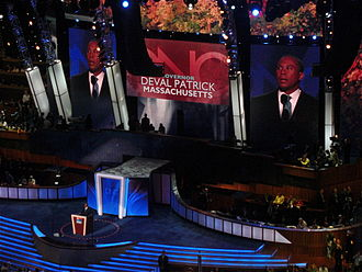 Deval Patrick - Patrick speaking at the 2008 Democratic National Convention.