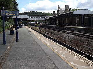 Dewsbury railway station Kirklees, West Yorkshire, WF13