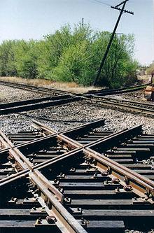 Cross the railroad tracks 6