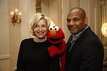Diane Sawyer, Elmo and Kevin Clash (8266473057).jpg