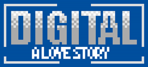 Digital: A Love Story - Image: Digital A Love Story logo with background