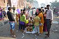Distribution of Prasad - Chhath Puja Ceremony - Grand Foreshore Road - Howrah 2013-11-09 4084.JPG
