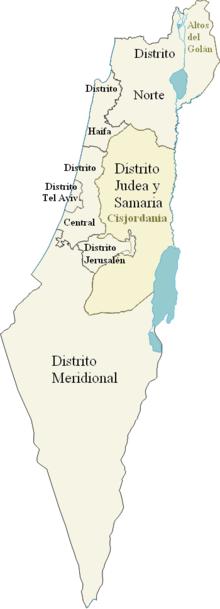 Mapa de Israel.