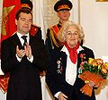 Dmitry Medvedev and Nadezhda Popova.jpg