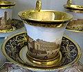 Doccia, servito con vedute di firenze, 1800-1850 ca., tazzina con piazza pitti 2.JPG