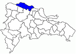 Location of the Puerto Plata Province