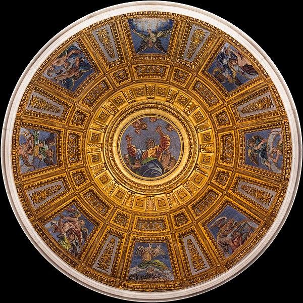 File:Dome Cappella Chigi from inside, Santa Maria del Popolo, Rome, Italy.jpg