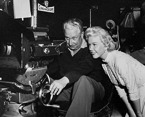 Lucky Me (film) - Doris Day and cinematographer Wilfred M. Cline on the film's set