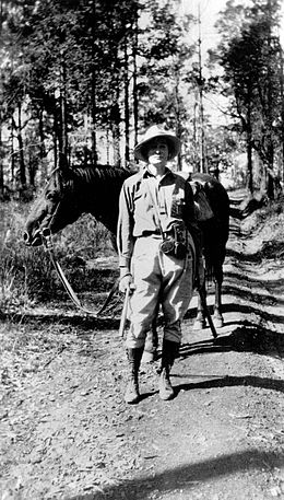 Dorothy Hill with horse, Walter during a geological excursion c. 1929.jpg