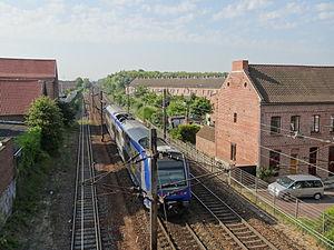 Paris–Lille railway - The railway near Douai