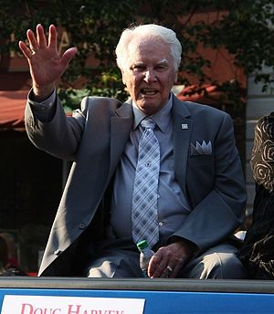 Doug Harvey (umpire) - Harvey at the 2011 Baseball Hall of Fame induction parade