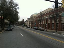 A view of North Main Street in downtown Suffolk, Virginia