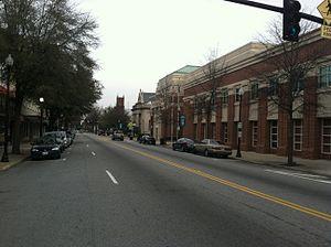 Suffolk, Virginia - A view of North Main Street in downtown Suffolk, Virginia