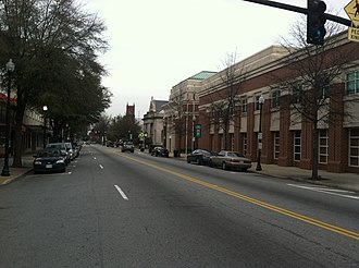 Suffolk, Virginia - A view of North Main Street in downtown Suffolk, Virginia