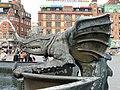 Dragon Fountain detail, Copenhagen - DSC08858.JPG