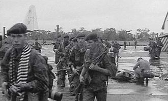 Operation Dragon Rouge - Belgian paratroopers on Stanleyville airfield after the operation