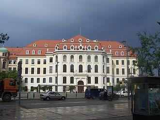 Landhaus (Dresden) - The Landhaus, from Wilsdruffer Straße