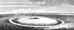 Disc barrow - Engraving of a 'druid barrow' by Sir Richard Colt Hoare