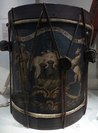 City guard - Drum of the Edinburgh City Guard (late 18thC) bearing the city's coat of arms