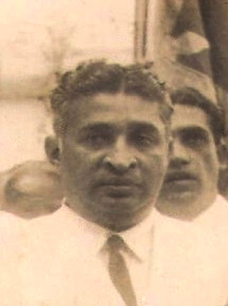 S. J. V. Chelvanayakam - Dudley Senanayake, who served as Prime Minister of Ceylon on three occasions