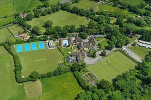 Dumpton School - Aerial view of the 26 acre site of Dumpton School, Wimborne