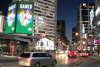 Dundas Street - Dundas Street, at the intersection of Yonge Street