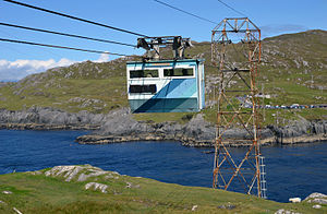 Dursey Island - The cable car and Dursey Sound, viewed from Dursey Island (Sept. 2015)