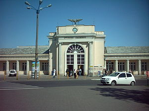 Poznań Główny railway station - Western entrance of the station