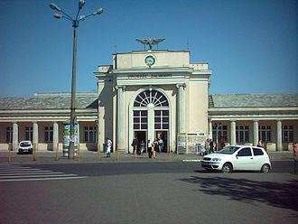 Poznań Główny railway station - Western entrance of the station