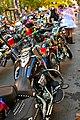 Dykes on bikes with a short wedding dress - san francisco.jpg
