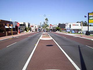 Beaufort Street road in Perth