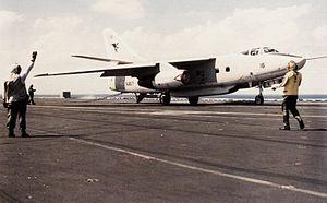 VQ-2 - EA-3B VQ-2 after landing on USS Saratoga inn 1986.