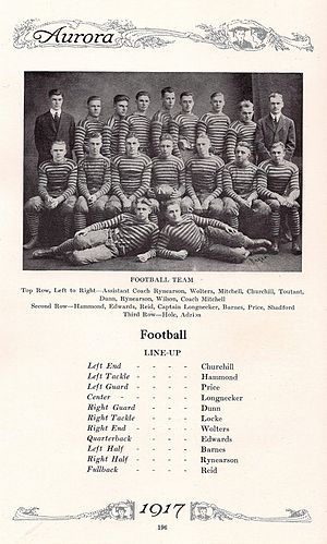 Eastern Michigan Eagles football - The 1916 Michigan State Normal College football team, in the 1917 yearbook.