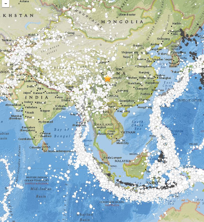 EQs 1900-2015 china