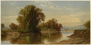 Esopus Creek - Early Autumn on Esopus Creek (circa 1861-1897), by Alfred Thompson Bricher