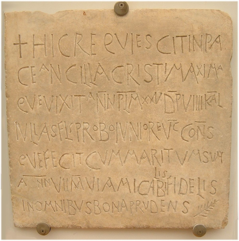 Early Christian Funerary Inscription Julian Calendar Wikipedia