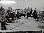 Early Wheelchair Rugby game at Pembrey Airfield near Llanelli, Wales. c1960's.jpg