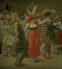 The Carnival in Rome. Fragment