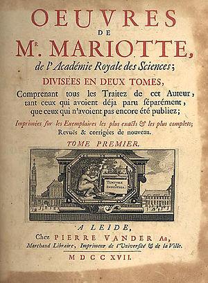 Edme Mariotte - Œuvres de M. Mariotte (1717)