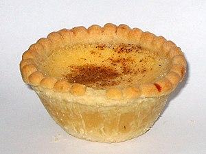 Custard tart - Image: Egg custard tart