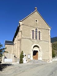 The church of Saint-Christophe, in Lavaldens