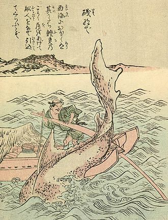 Sea in culture - The Isonade as depicted in Takehara Shunsen's Ehon Hyaku Monogatari, 1841