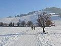Einsiedeln im Schnee, im Hintergrund der Friedhof 2013-01-26 13-16-24 (P7700).JPG