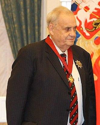 Eldar Ryazanov - Eldar Ryazanov after receiving the Order of Merit for the Fatherland award in 2008