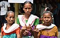 Elderly women voters showing mark of indelible ink after casting their votes, at a polling booth, during the first phase of Assam Assembly Election, at Bajrajhar, under Udalguri District on April 04, 2016.jpg