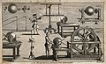 Electricity; several electrical machines in use, with a man Wellcome V0025404.jpg