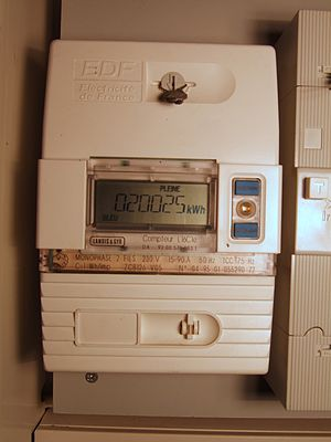 EDF Electricity meter in France.