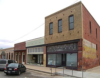 Elgin, Texas - The Elgin Commercial Historic District: these buildings along Central Avenue are some of the oldest buildings in the district.
